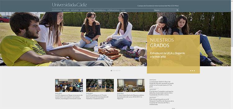 La UCA estrena una nueva web con una imagen renovada, actualizada y adaptada a dispositivos móviles