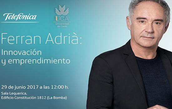 Ferran Adrià, este jueves en la UCA