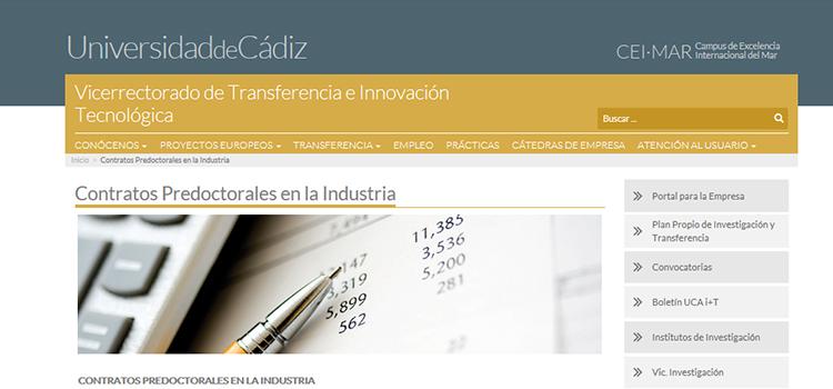 La UCA convoca dos contratos predoctorales de personal investigador para Acerinox