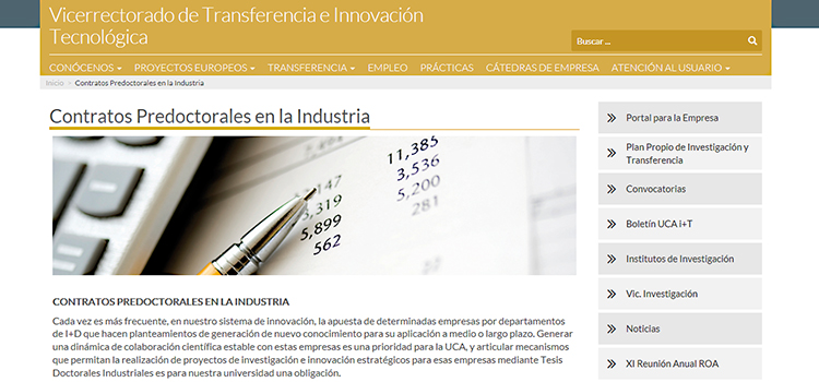 La UCA convoca contrato predoctoral para tesis industrial en 'ALGA DEVELOPMENT, ENGINEERING AND SERVICES'