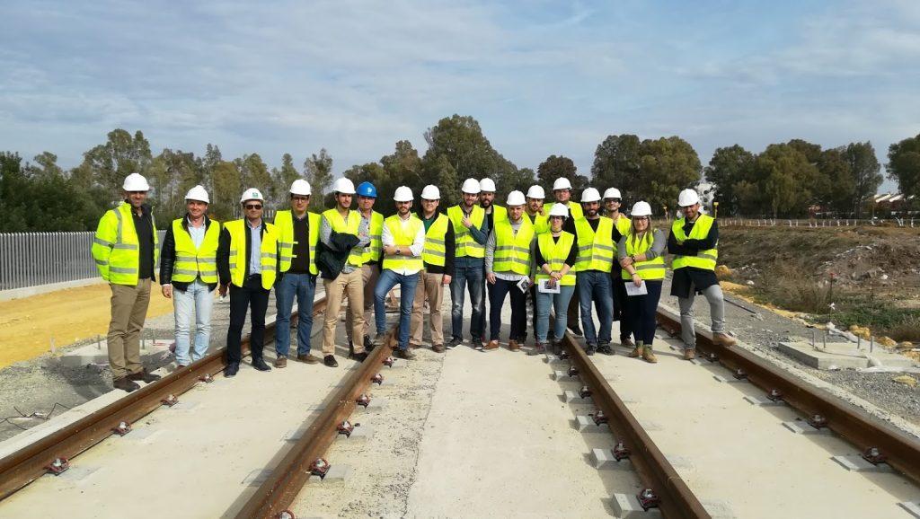 Alumnado del máster en Ingeniería de Caminos, Canales y Puertos visita las obras del metro de Sevilla