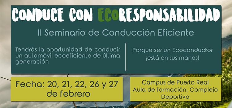 La UCA organiza el II seminario 'Conduce con Eco-responsabilidad'