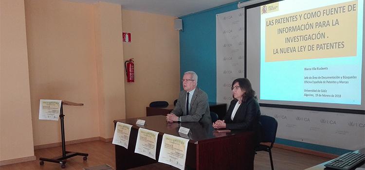UCA y Oficina Española de Patentes y Marcas celebran dos jornadas en los campus de Puerto Real y Bahía de Algeciras