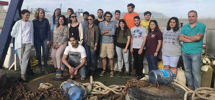 The UCADIZ ship begins the 1st internship campaign of the Master's degree in Nautical and Subaquatic Archaeology