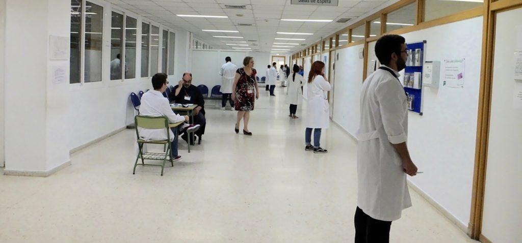 140 estudiantes de Medicina de la UCA se presentan al examen ECOE celebrado en el Hospital de Puerto Real
