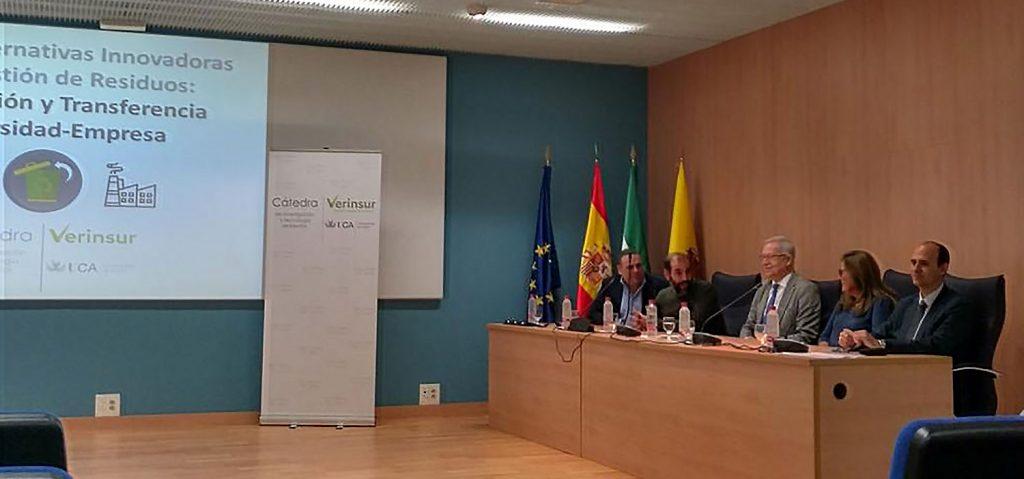 El III Premio Cátedra Verinsur–UCA protagoniza las jornadas sobre innovación en la gestión de residuos