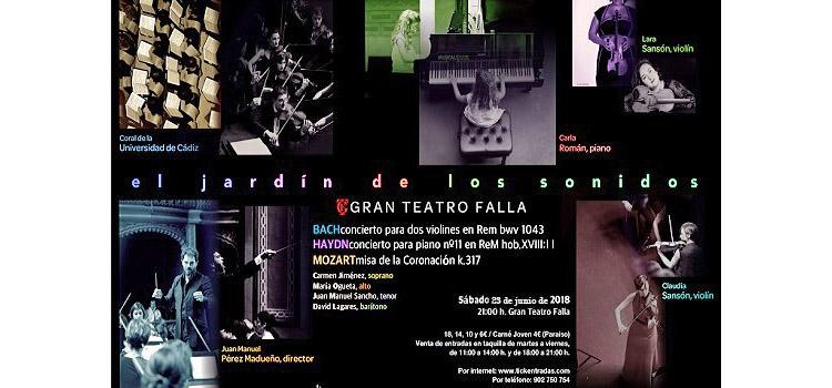 La Coral de la UCA y la Orquesta Álvarez Beigbeder interpretarán este sábado 'El jardín de los sentidos' en el Falla