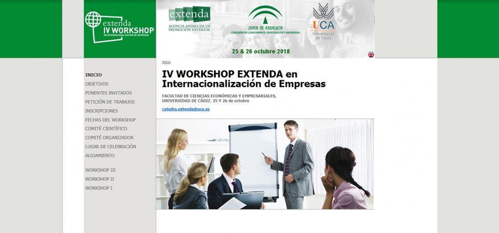 La UCA acogerá en octubre el IV Workshop Extenda en Internacionalización de Empresas