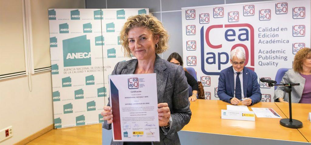 La monografía 'Historia y Arte' de la UCA obtiene el sello de Calidad en Edición Académica 2018
