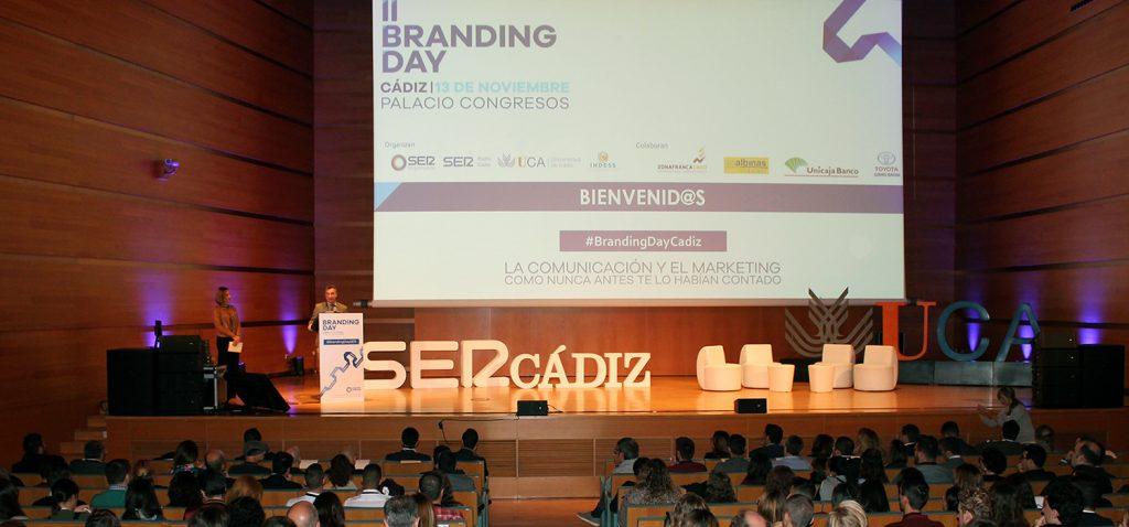 Aforo completo en el II Branding Day Cádiz, 900 personas asisten hoy a este evento de comunicación
