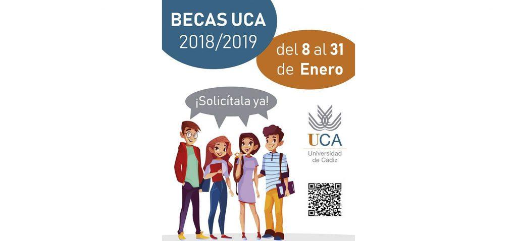 El plazo de las Becas UCA para el curso 2018-19 está abierto hasta el día 31 de enero