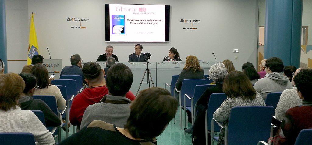 La Universidad de Cádiz presenta 'Cuadernos de Investigación de Fondos del Archivo UCA'
