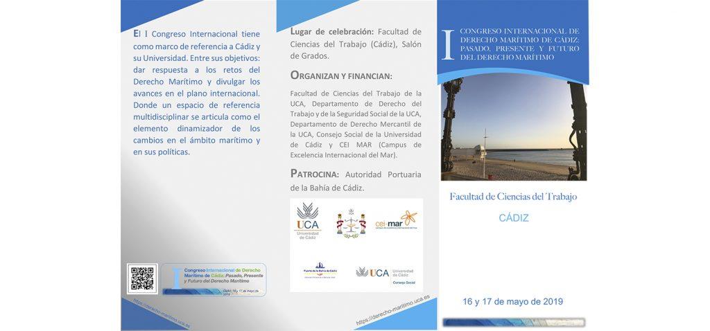 La UCA celebrará en mayo el I Congreso de Derecho Marítimo