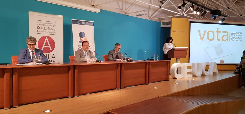 La UCA celebra el debate electoral de los tres candidatos a rector