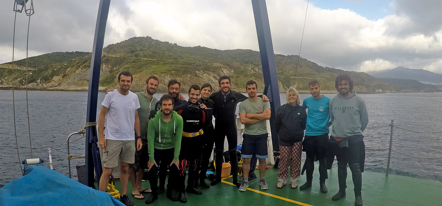 Students of UCA begin aboard the UCADIZ their internship from the master's degree in Nautical and Underwater Archaeology in Algeciras