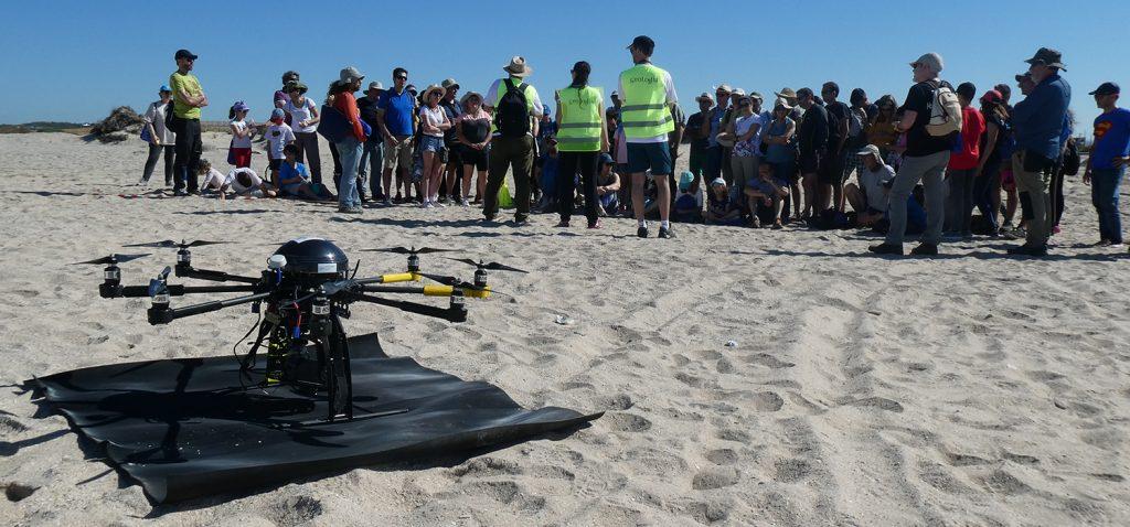 Investigadores de la UCA muestran la aplicación del uso de drones en el estudio de las costas