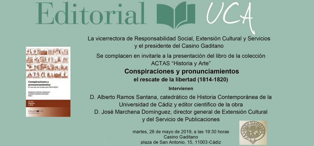El sello Editorial UCA presenta 'Conspiraciones y pronunciamientos. El rescate de la libertad'