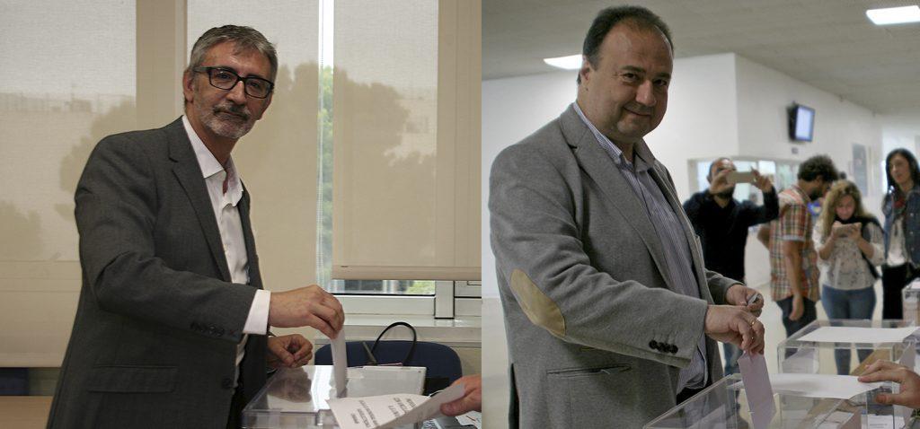Los catedráticos Paco Piniella y Casimiro Mantell afrontan mañana la segunda vuelta de las Elecciones a Rector UCA 2019