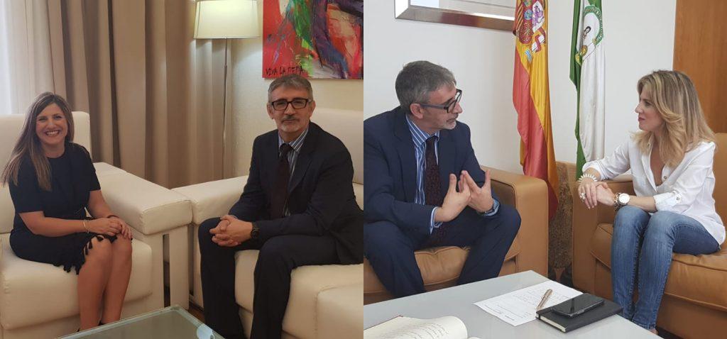 El rector de la UCA se reúne con la presidenta de la Diputación y la delegada del Gobierno de la Junta