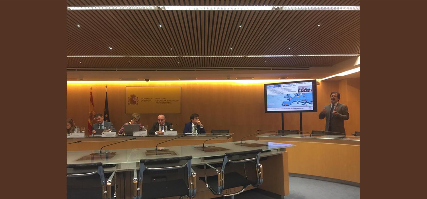 La Universidad Europea de los Mares SEA-EU se presenta en el Ministerio de Ciencia, Innovación y Universidades