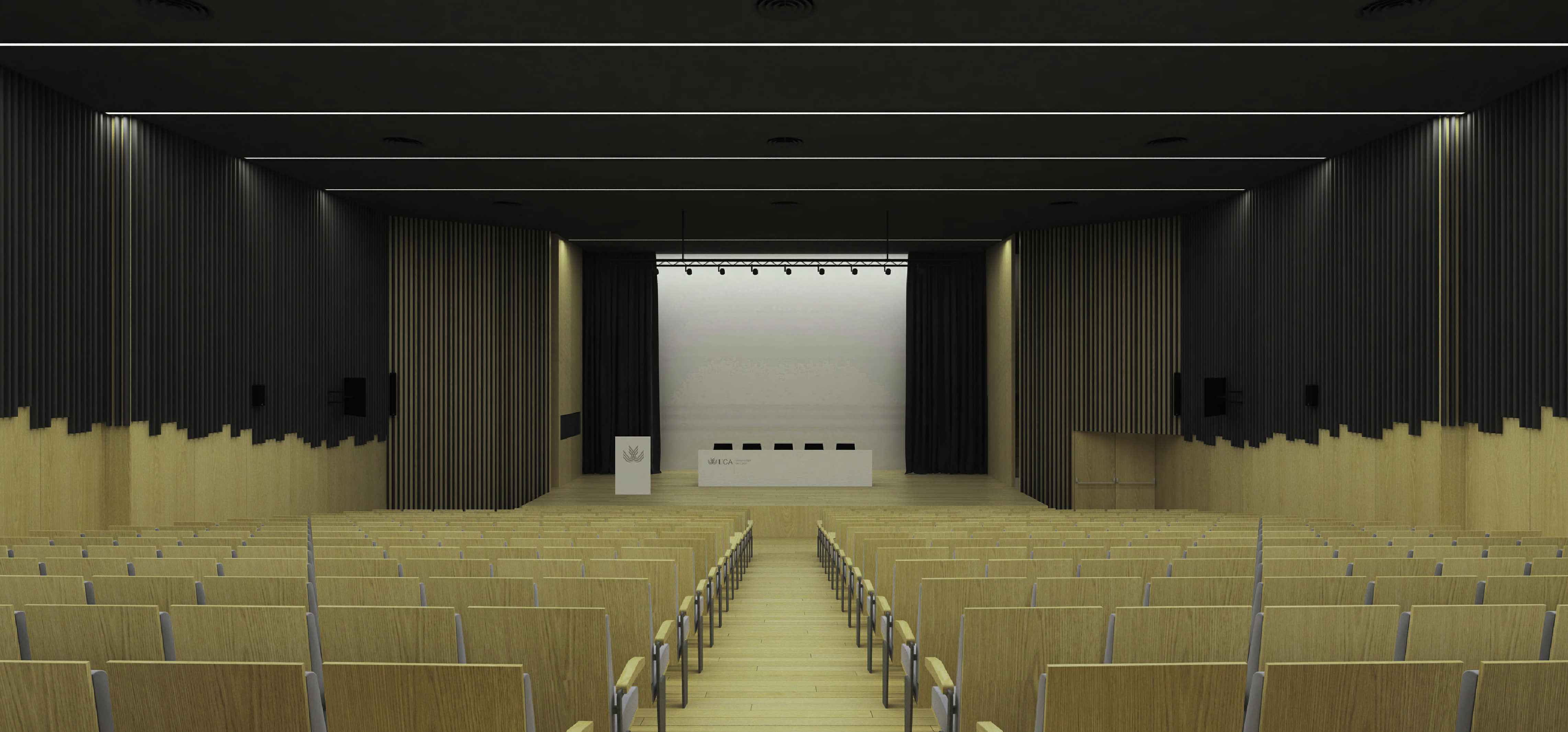 La UCA comienza las obras de remodelación y mejora integral del salón de actos de la EPS de Algeciras
