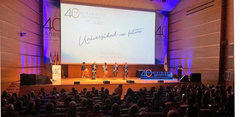 La UCA celebra el acto conmemorativo de su 40º aniversario en el Palacio de Congresos de Cádiz