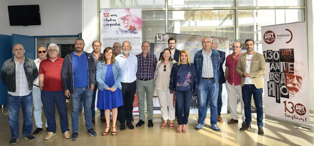 El Campus de Jerez acoge la exposición 130º aniversario de UGT en Cádiz