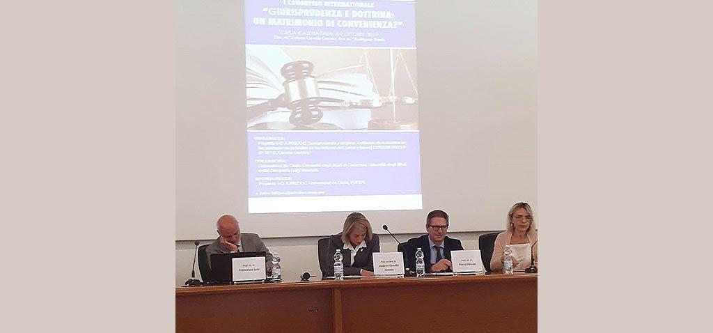 Docentes UCA celebran en Italia el I Congreso 'Jurisprudencia y Doctrina. ¿Un matrimonio de conveniencia?'