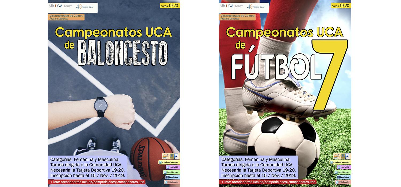 Abierto el plazo de inscripción para los Campeonatos UCA de Baloncesto y Fútbol 7