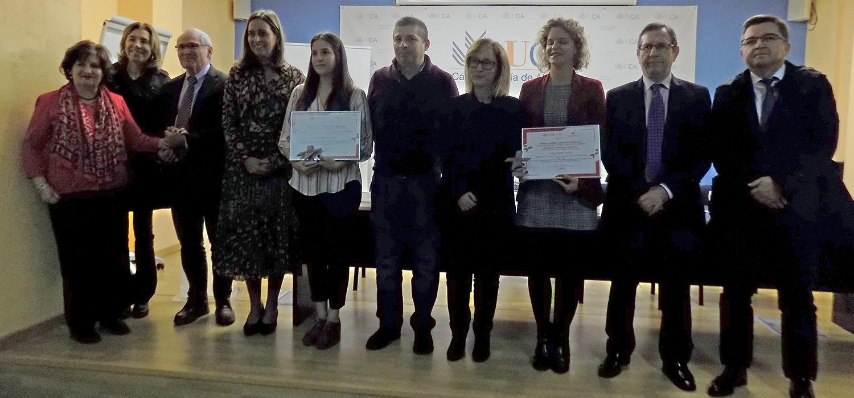 Cristina Agabo-García y Alicia Ruiz Iglesias recogen los premios Cátedra Fundación CEPSA de la UCA