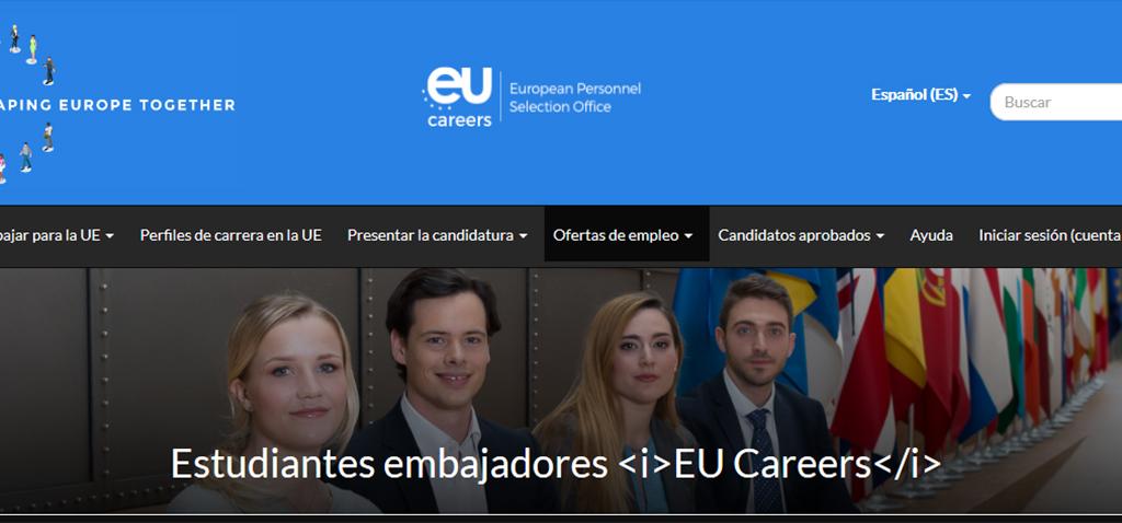 Abierto plazo del programa 'EU Ambassador Careers' para alumnado embajador del empleo en las instituciones europeas