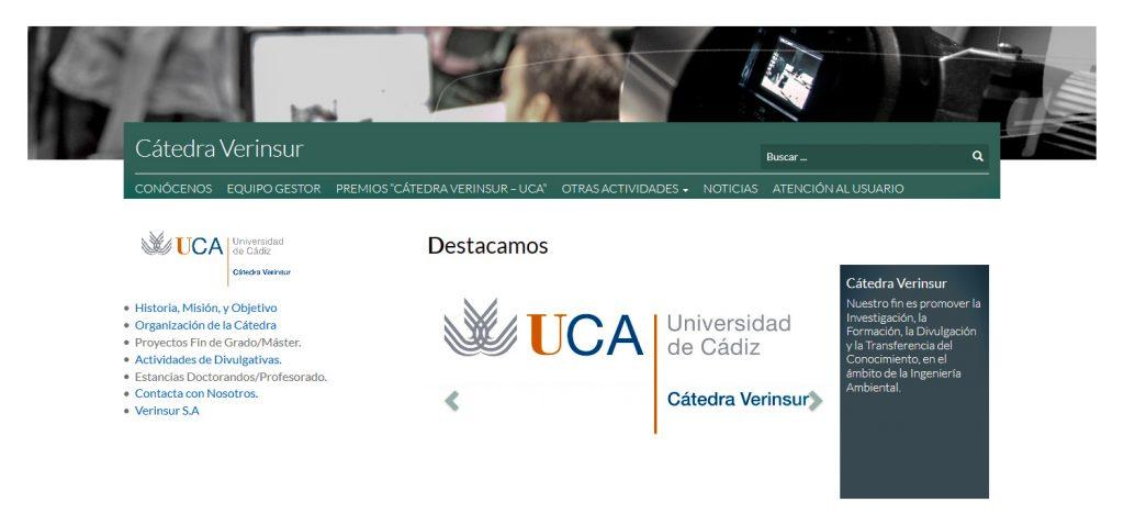Ampliado el plazo de presentación del V Premio Cátedra Verinsur –UCA