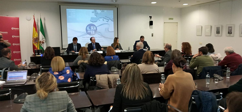 La UCA junto a APBA presenta 'La Universidad Europea de los Mares  SEA-EU' a AGI y Cámara de Comercio