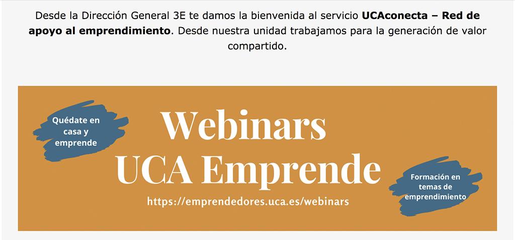 La Dirección General 3E organiza seminarios y encuentros online sobre emprendimiento