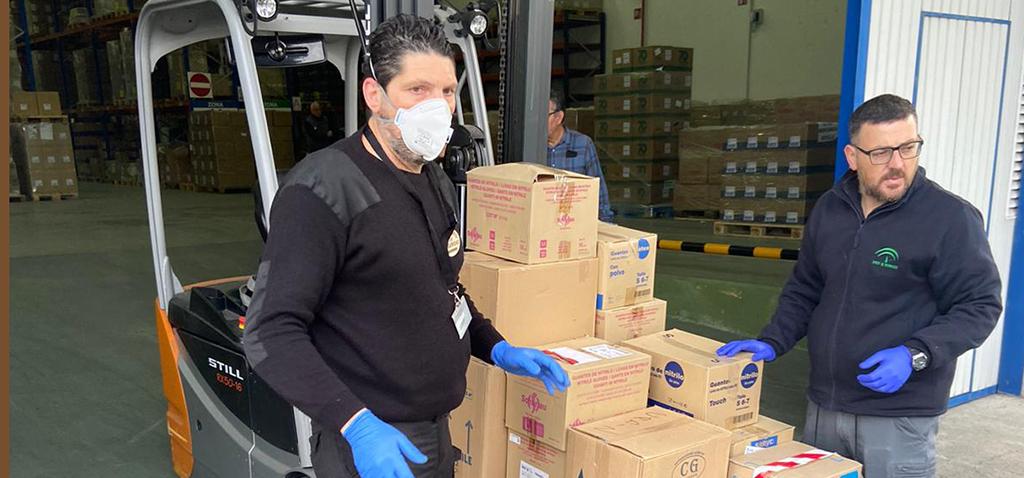 La UCA hace entrega del material preventivo para uso sanitario y demás servicios públicos básicos en la lucha contra el Covid-19