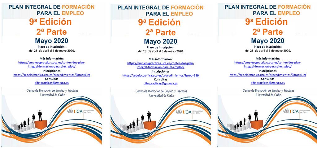 La UCA abre la inscripción para la 2ª parte del IX Plan Integral de Formación para el Empleo – Actividades de Orientación Profesional
