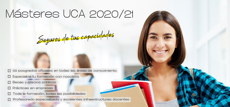La UCA oferta 56 másteres oficiales para el curso 2020/21