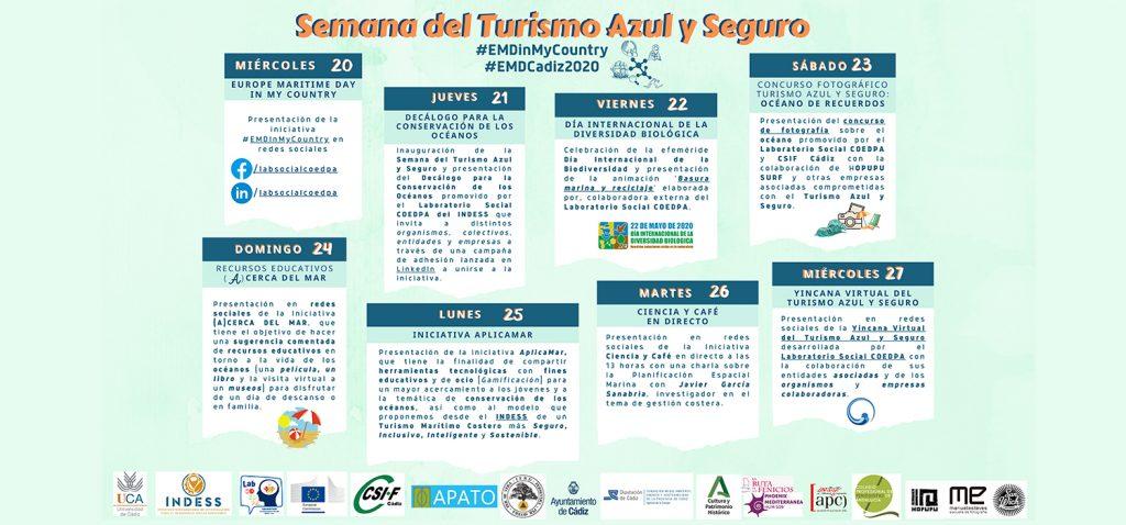La UCA pone en marcha un programa de actividades virtual para celebrar la 'Semana del Turismo Azul y Seguro'