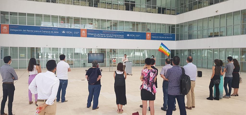 Lectura del manifiesto Orgullo LGTBI+ en el Campus de Jerez
