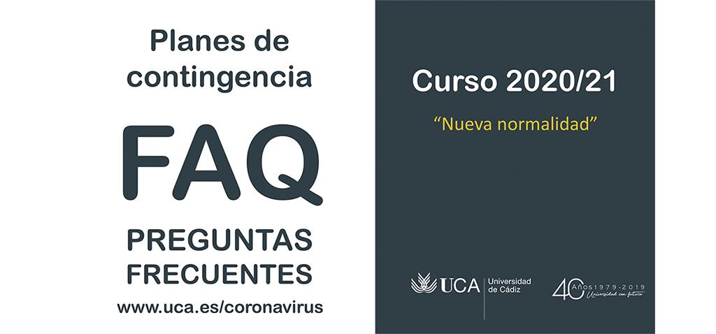La UCA ha elaborado un documento de FAQ sobre los Planes de Contingencia para el curso 2020/21