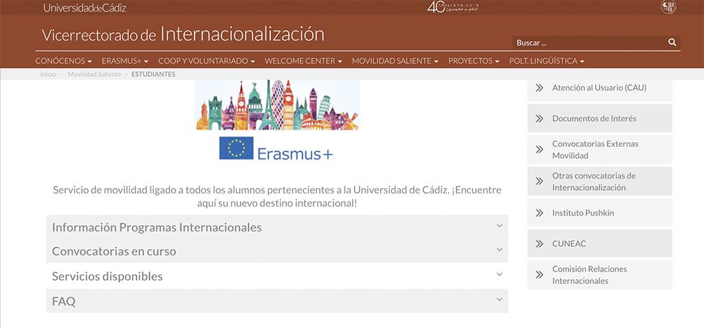 Convocatoria de Movilidad Europea Erasmus+ KA103 para estudiantes de Grado, Máster y Doctorado