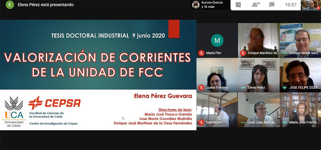 La Universidad de Cádiz y CEPSA celebran la defensa telemática de su primera tesis industrial