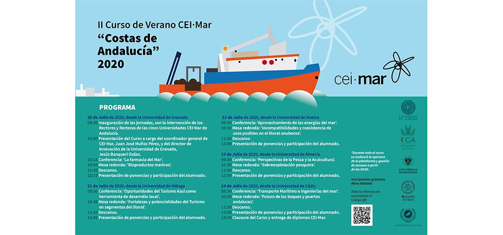 CEI·Mar presenta su II Curso de Verano 'Costas de Andalucía 2020', un recorrido por los temas marinos con futuro