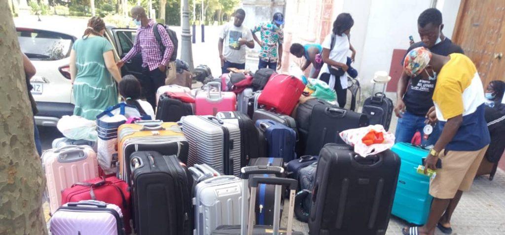 Feliz regreso a casa de los 26 estudiantes Erasmus de Costa de Marfil de la Universidad de Cádiz