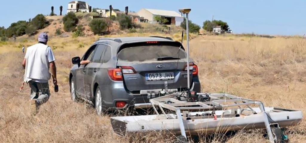 Investigadores de la UCA buscan restos del yacimiento romano de Balsa en Portugal con georradar 3D