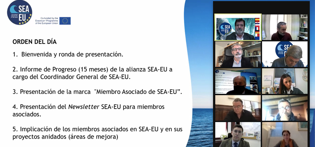 La Universidad Europea de los Mares presenta la marca 'miembro asociado SEA-EU'