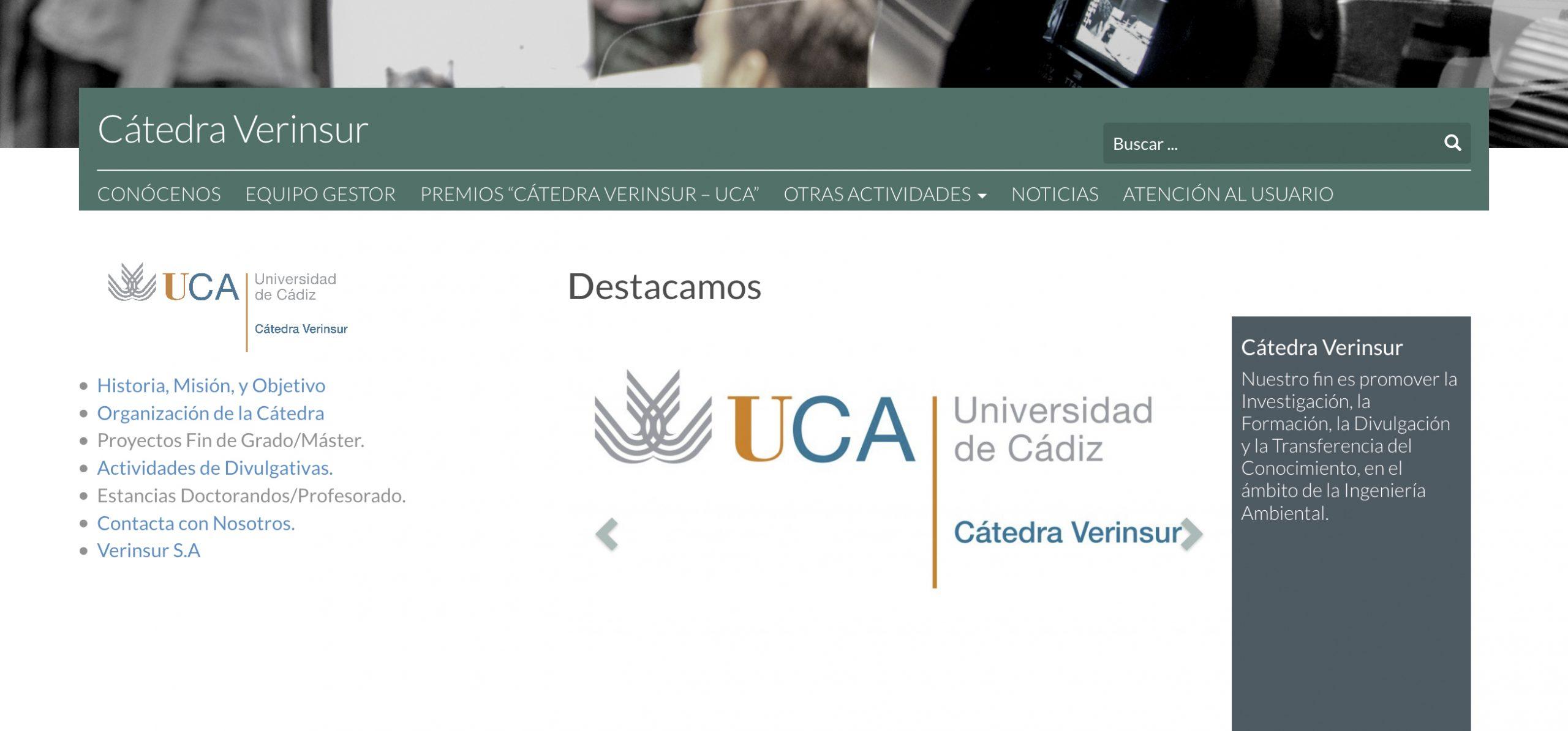 Ampliado el plazo de presentación del VI Premio Cátedra Verinsur –UCA 'Alternativas Innovadoras sobre valorización de residuos'
