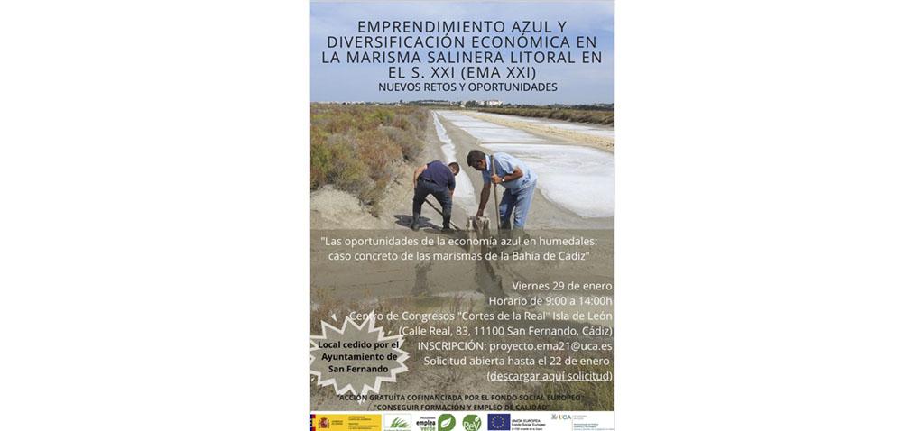 San Fernando acogerá la jornada 'Las oportunidades de la economía azul en humedales de la Bahía de Cádiz'
