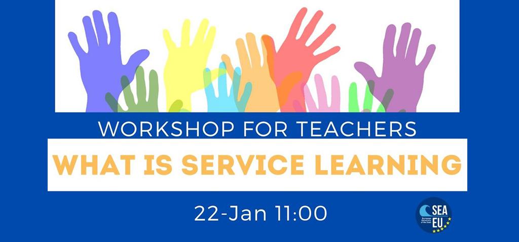 La Universidad Europea de los Mares SEA-EU organiza mañana el taller online '¿Qué es el aprendizaje-servicio?'