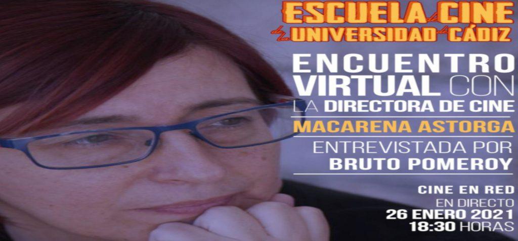 Macarena Astorga protagonizará mañana el encuentro virtual de 'Cine en Red' del Proyecto Atalaya